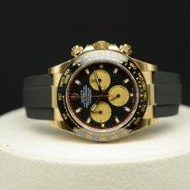 Rolex Daytona Geelgoud 40mm Zwart Geen cijfers