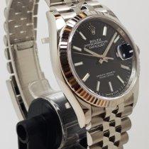 Rolex Datejust Zeljezo 36mm Crn Bez brojeva