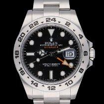 Rolex Explorer II occasion 42mm Noir Date GMT Acier