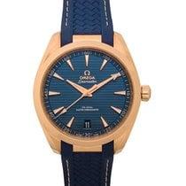 Omega Seamaster Aqua Terra Or rose 41mm Bleu