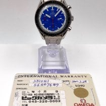 Omega Speedmaster Reduced Steel 39mm Blue No numerals United States of America, New York, New York