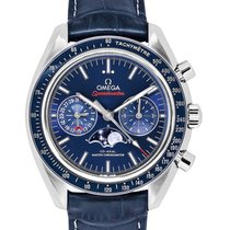 Omega Speedmaster Professional Moonwatch Moonphase Acier 44.25mm Bleu