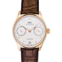 IWC Rödguld Automatisk Silver 42.30mm ny Portuguese Automatic