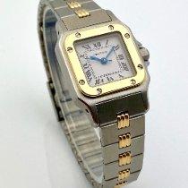 Cartier Santos Galbée Gold/Stahl 26mm Weiß Römisch
