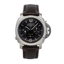 Panerai Luminor 1950 8 Days Chrono Monopulsante GMT Acero 44mm Negro