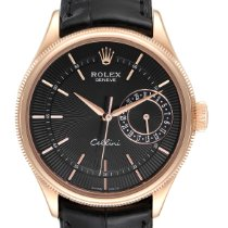 Rolex Cellini Date Or rose 39mm Noir