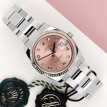 Rolex Oyster Perpetual Date Gold/Steel 34mm Pink