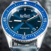 Blancpain Fifty Fathoms Bathyscaphe Staal 38mm Blauw Geen cijfers Nederland, 'S-Hertogenbosch
