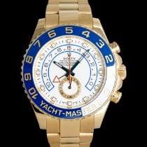 Rolex Yacht-Master II Aur galben 44mm Alb