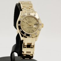 Rolex Lady-Datejust Pearlmaster Yellow gold 29mm Yellow No numerals
