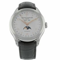 Baume & Mercier Clifton Steel 43mm Silver Arabic numerals United States of America, Florida, Sarasota