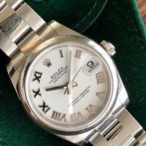 Rolex Lady-Datejust Aço 31mm Branco Romanos