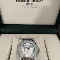 Frederique Constant Manufacture Worldtimer Acier 42mm Argent Sans chiffres France, ambilly