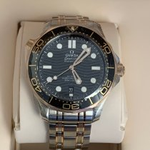Omega Seamaster Diver 300 M Gold/Steel 42mm Black No numerals