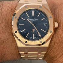 Audemars Piguet 15202OR.OO.1240OR.01 Pозовое золото 2017 Royal Oak Jumbo 39mm новые