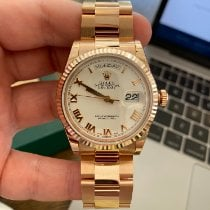 Rolex Rose gold Automatic Gold (solid) Roman numerals 36mm new Day-Date 36