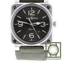 Bell & Ross BR 03-92 Steel BR0392-GC3-ST/SCA new