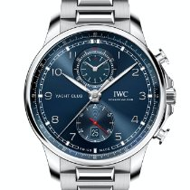 IWC Portuguese Yacht Club Chronograph Steel 44.6mm Blue