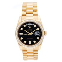 Rolex Day-Date 36 Yellow gold 36mm Black No numerals United States of America, Texas, Dallas