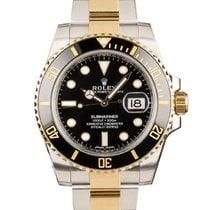Rolex Submariner Date Gold/Steel 40mm Black No numerals United Kingdom, London