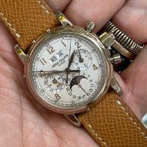 Patek Philippe Perpetual Calendar Chronograph Oro bianco 37mm Bianco Italia, roma
