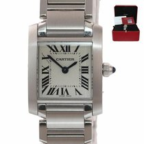 Cartier Tank Française Steel 25mm Roman numerals United States of America, New York, Huntington
