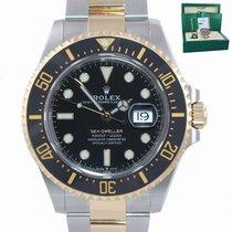 Rolex Sea-Dweller Золото/Cталь 43mm Чёрный