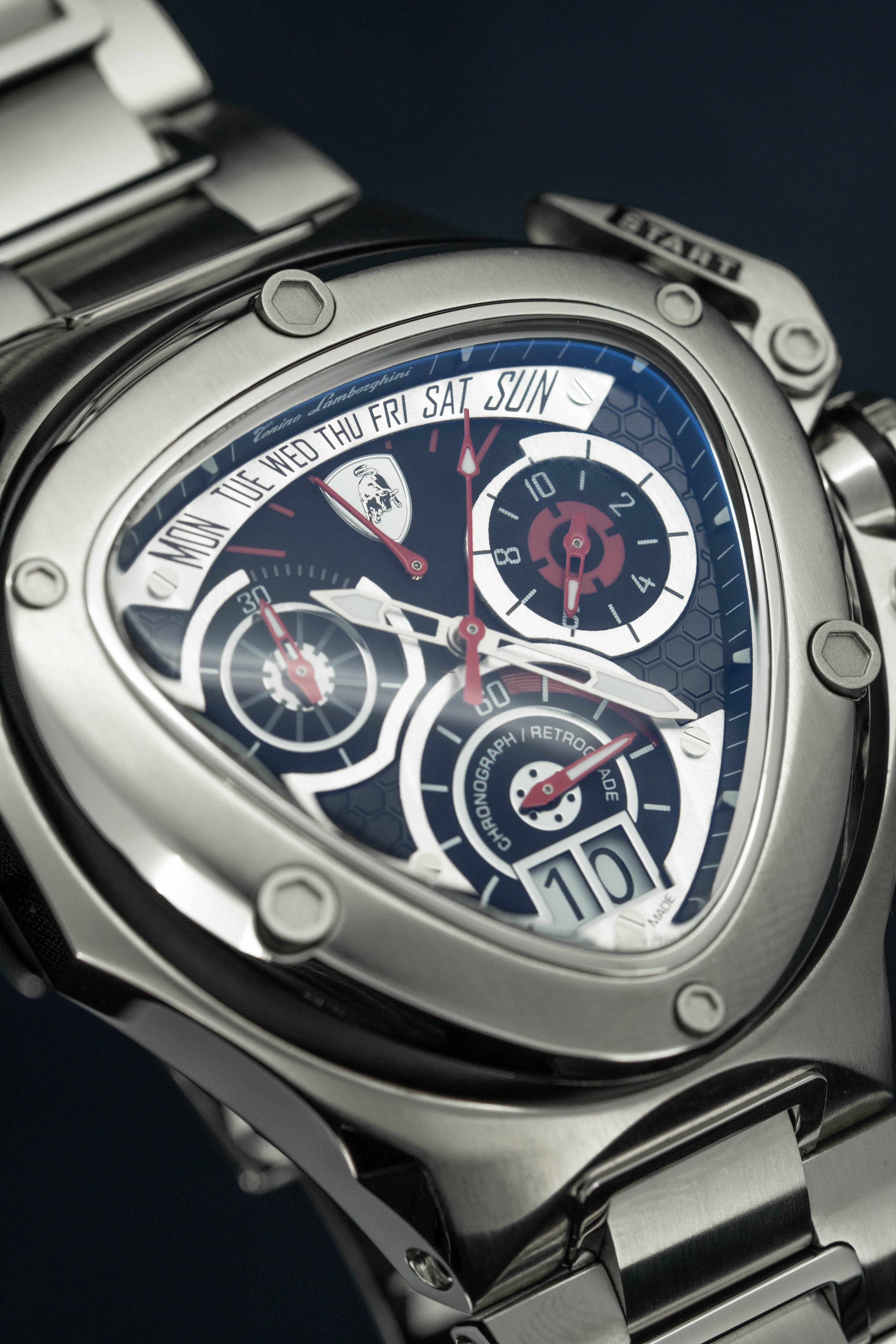 Tonino Lamborghini Chronograph Watch Spyder Stainless Steel