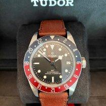 Tudor Stahl Automatik Schwarz Keine Ziffern 41mm neu Black Bay GMT