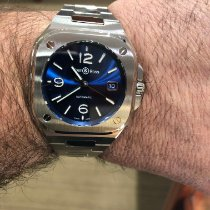 Bell & Ross BR05A-BLU-ST/SST. Aluminum 2019 BR 05 pre-owned