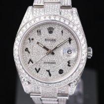 Rolex Datejust Stahl 41mm Silber Keine Ziffern Deutschland, Rosenheim