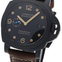 Panerai Luminor Marina 1950 3 Days Automatic Carbono 44mm Negro Arábigos
