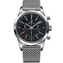 Breitling Transocean Chronograph GMT Acero 43mm Negro Sin cifras