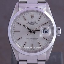 Rolex Oyster Perpetual Date Steel 34mm Silver No numerals United Kingdom, London Paris & Brussels face to face delivery only - Other destinaition shipment with full insurance