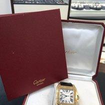 Cartier Roségold Automatik Weiß Römisch gebraucht Santos 100