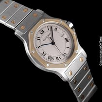 Cartier Santos (submodel) pre-owned 38mm Silver Gold/Steel