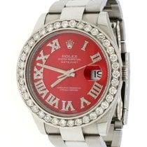 Rolex Datejust Acero 41mm Rojo