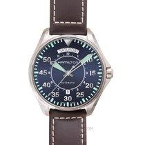 Hamilton H64615545 Acier 2020 Khaki Pilot Day Date 42mm nouveau