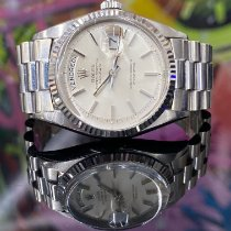 Rolex Or blanc Remontage automatique Blanc Sans chiffres 36mm occasion Day-Date 36