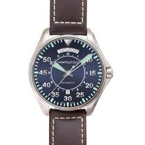 Hamilton Khaki Pilot Day Date Acier 42mm Bleu