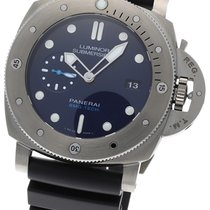 Panerai Luminor Submersible Titanium 47mm Blue No numerals