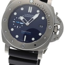 Panerai Luminor Submersible Titanio 47mm Azul Sin cifras