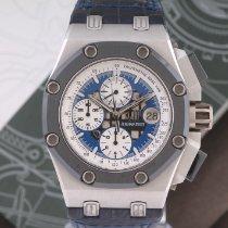 Audemars Piguet Royal Oak Offshore Chronograph Platine 44mm Bleu Sans chiffres