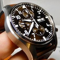 IWC Pilot Chronograph Steel 43mm Brown United States of America, North Carolina, Winston Salem