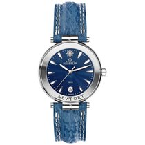 Michel Herbelin Steel Quartz Blue No numerals 38.5mm new Newport (submodel)