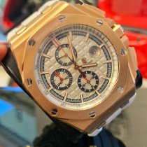 Audemars Piguet Royal Oak Offshore Chronograph 26408OR.OO.A010CA.01 Veldig bra Roségull 44mm Automatisk