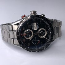 TAG Heuer Carrera Calibre 16 Steel 43mm Black Arabic numerals United States of America, Michigan, Birmingham