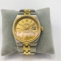 Rolex Datejust Goud/Staal 36mm Champagne Geen cijfers