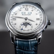 Blancpain Léman Moonphase Steel 33mm Mother of pearl Roman numerals