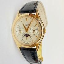 Patek Philippe Rose gold Automatic Silver No numerals 36mm pre-owned Perpetual Calendar